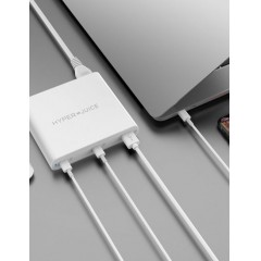 Sạc Macbook HyperJuice 87W Dual USB-C /QC4.0 Tích hợp USB-A QC3.0 - Adapter Macbook HyperJuice 87W Integrated Dual USB-C /QC4.0 Tích hợp USB-A QC3.0