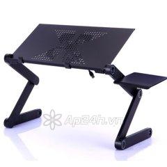 Giá đỡ Laptop Lemeng Aluminum Big Cooling Fans and Mouse Pad